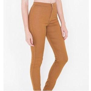 "American Apparel   High Waist Easy Jean in ""Camel"""
